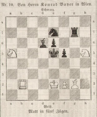 chess composition by the german composer Conrad Bayer 1858