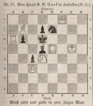 Eugene Beauharnais Cook 1860 chess problem