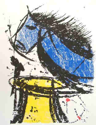 Chess - Knight takes Rook - Serigraph by the artist Elke Rehder