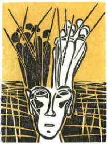 Stefan Zweig Chess The Royal Game woodcut 4 by Elke Rehder