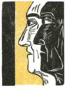 Stefan Zweig Chess The Royal Game woodcut 5 by Elke Rehder